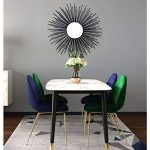 Decorativo Sunburst Negro Espejo de pared Hierro Shabby ChicRound 3D Estéreo Vintage, Espejos de pared Forja a mano Montaje en pared Shabby Chic Decoración para el hogar Entrada bar Hall,50CM