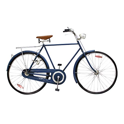 Vidal Regalos Adorno Decorativo Pared Bicicleta Azul 110 cm